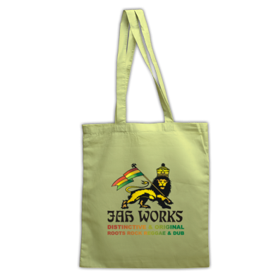 Jah Works Black logo Tote Bag