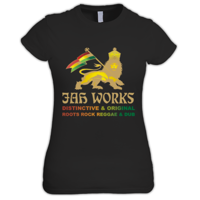 Jah Works Gold logo Womans T shirt