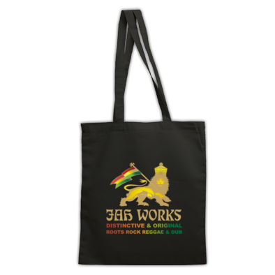 Jah Works Gold logo Tote Bag