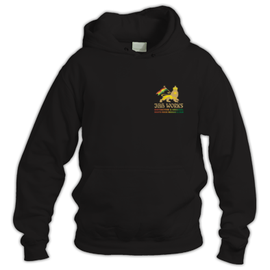Jah Works Gold  small logo Hoodie
