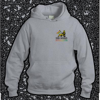 Jah Works Black  small logo Hoodie