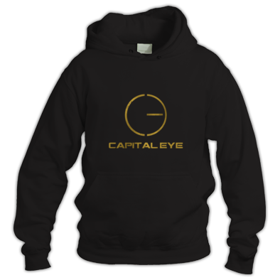 Gold logo hoodie