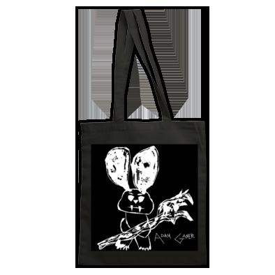 crazy bunny custom tote bag