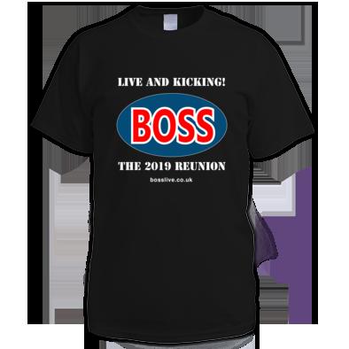 Men's T-shirt, Boss logo white text