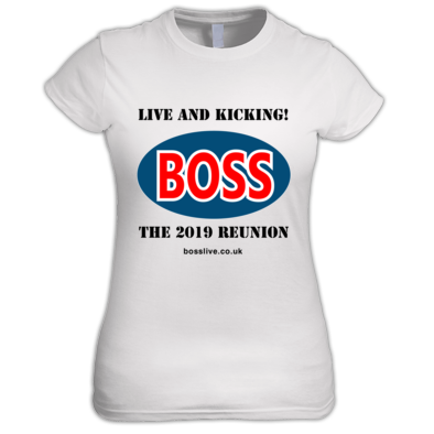 Women's T-shirt, Boss logo black text