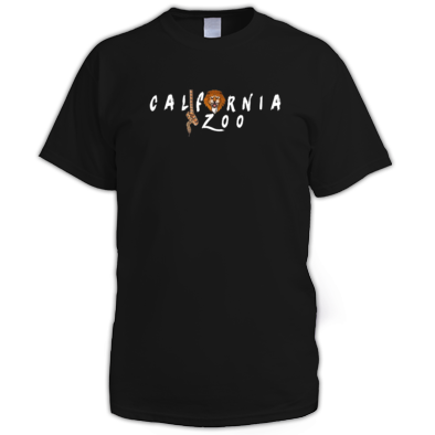 California Zoo White Logo Men's Tee