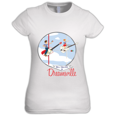 Dreamsville Guitar Ride (Ladies Tee)