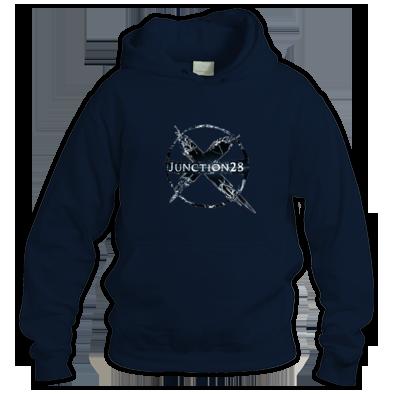 black large logo hoodie