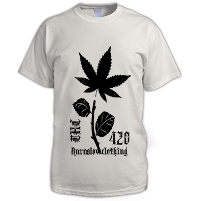 WEED & ROSES 420 T-SHIRT'S BY BURNSLOWCLOTHING