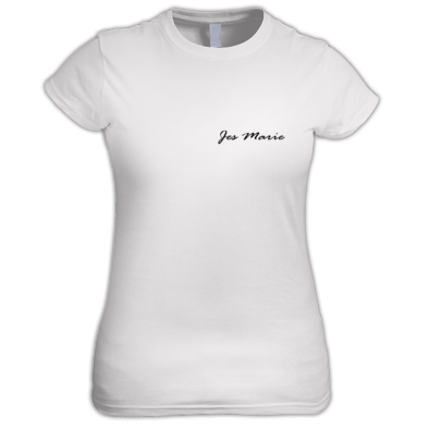 Women's T-Shirt - 'Jes Marie' Black Small Logo (More Colors Available)