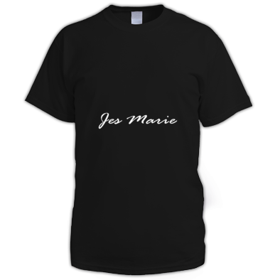 Men's T-Shirt - 'Jes Marie' White Logo (More Colors Available)