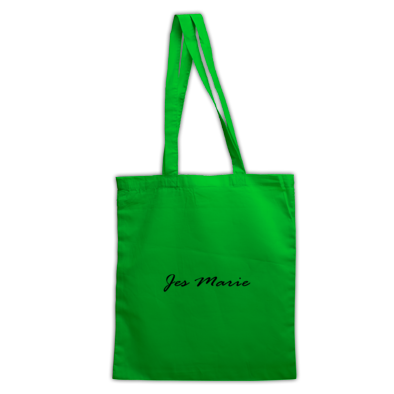 Tote Bag - 'Jes Marie' Black Logo (More Colors Available)