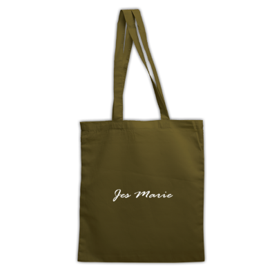 Tote Bag - 'Jes Marie' White Logo (More Colors Available)