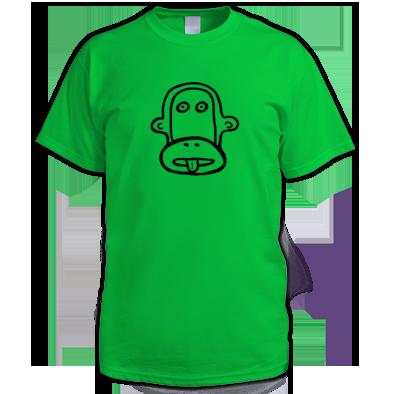 Cheeky Monkey Outline Men's T-shirt