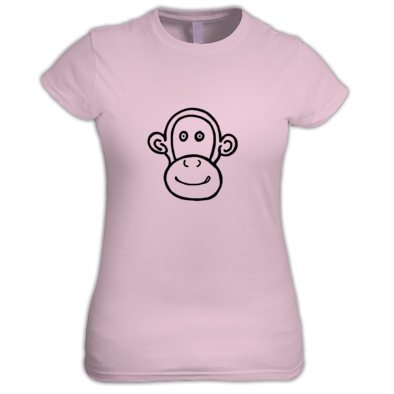 T Monkey Outline Women's T-shirt
