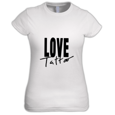Women's t-shirt - Large Black Love Tattoo Logo