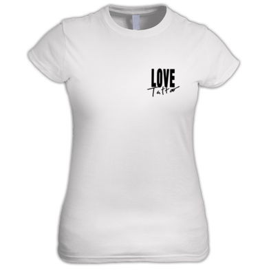 Women's t-shirt - Small Black Love Tattoo Logo