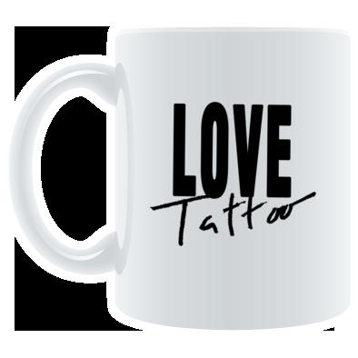 White Mug - Black Love Tattoo Logo