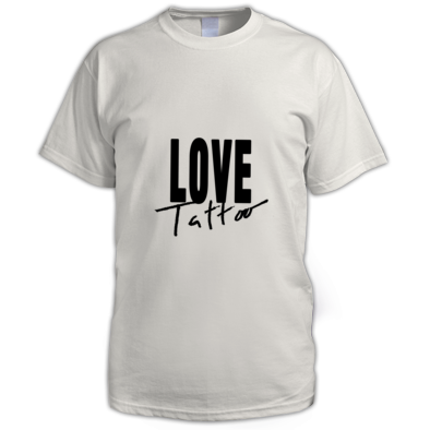 Men's t-shirt - Large Black Love Tattoo Logo