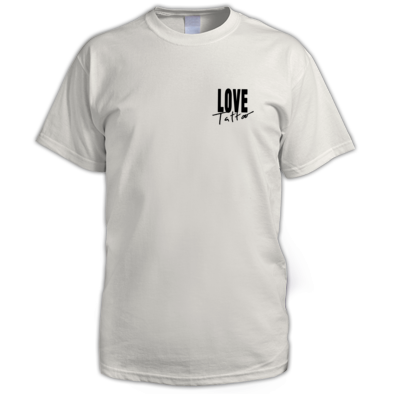 Men's t-shirt - Small Black Love Tattoo Logo