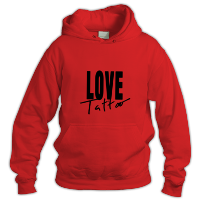 Hoodie - Large Black Love Tattoo Logo