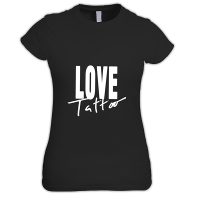 Women's t-shirt - Large White Love Tattoo Logo