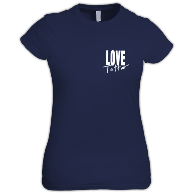 Women's t-shirt - Small White Love Tattoo Logo