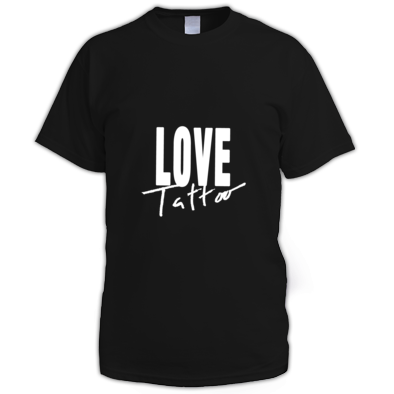 Men's t-shirt - Large White Love Tattoo Logo