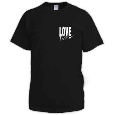 Men's t-shirt - Small White Love Tattoo Logo