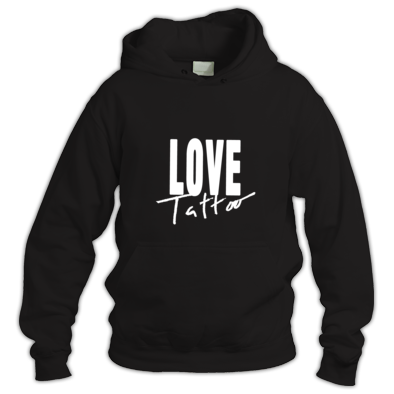 Hoodie - Large White Love Tattoo Logo