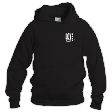 Hoodie - Small White Love Tattoo logo