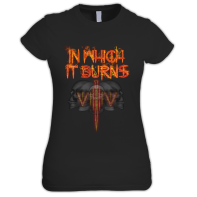 Ladies - InWhichItBurns Logo skulls 6341