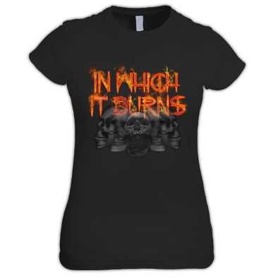 Ladies - InWhichItBurns Logo skulls