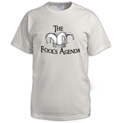 The Fool's Agenda Black Logo Tee