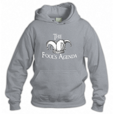 The Fool's Agenda White Logo Hoodie