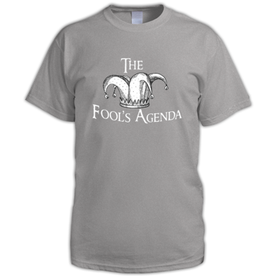 The Fool's Agenda White Logo Tee