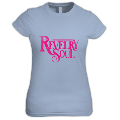 (Female) Pink Distressed Logo T-Shirt