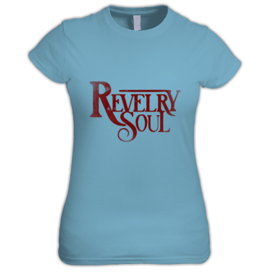 (Female) Red Distressed Logo T-Shirt