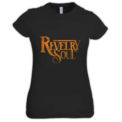 (Female) Orange Distressed Logo T-Shirt