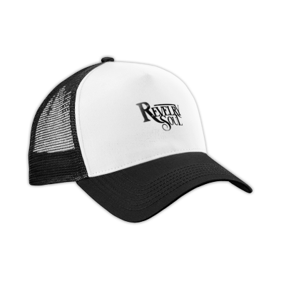 Black Distressed Logo Hat