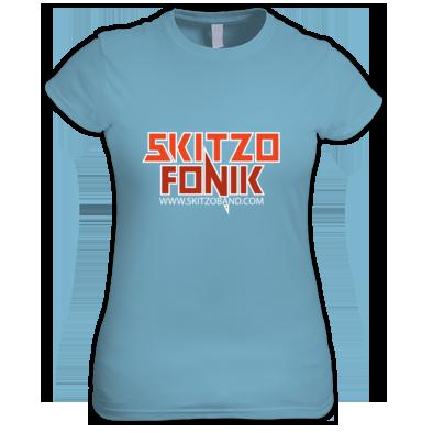 Skitzo Logo with White Outline