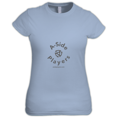Women's Tee A-Side Grey Logo
