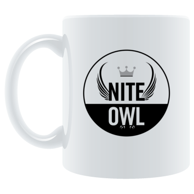 Nite Owl Round Logo Coffee Mug
