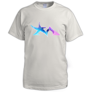 Star Madman Pink/Blue Symbol Logo Men's T-Shirt