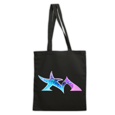 Star Madman Pink/Blue Symbol Logo Tote Bag