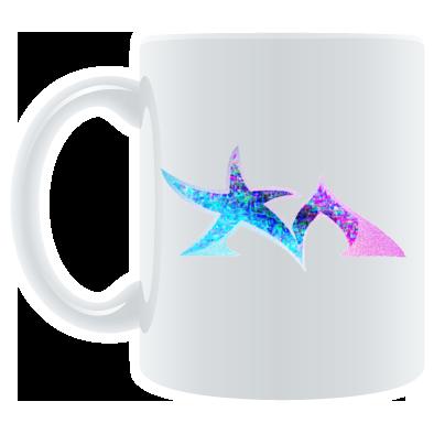 Star Madman Pink/Blue Symbol Logo Coffee Mug