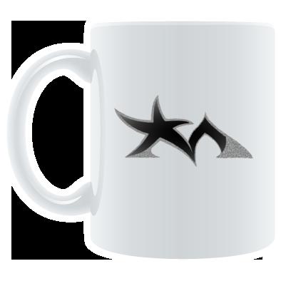 Star Madman Black/Silver Symbol Logo Coffee Mug