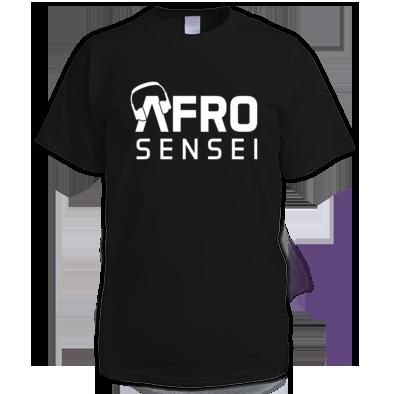 Afro Sensei Men's Tee W/White Logo