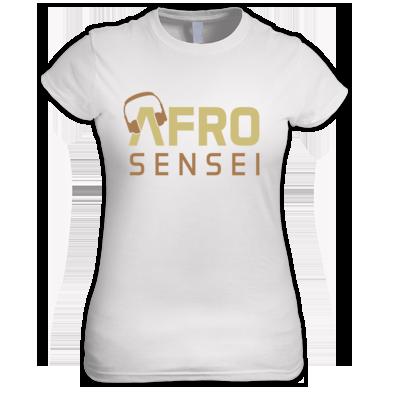 Afro Sensei Women's Tee W/Gold Logo