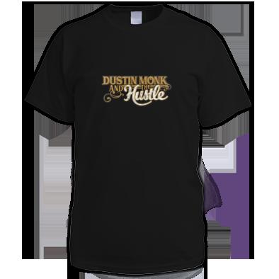 Men's T-shirt Dustin Monk and the Hustle Logo Gold